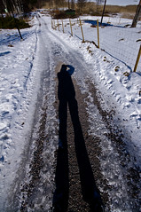 shadow (Mange J) Tags: road winter shadow snow fence pentax sweden wide gravel hammarö skugga värmland wideangel 10mm sigma1020mmf456exdc pentaxk7 fotosondag magnusjakobsson fs130317