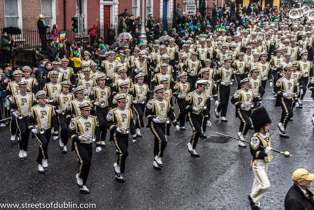 St. Patrick's Day Parade (2013) In Dublin - Purdue University All-American Marching Band, Indiana, USA
