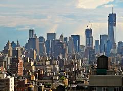 View from the office (minnepixel) Tags: nyc newyorkcity sunset sun sunshine skyline canon thevillage downtown village view manhattan worldtradecenter westvillage wallstreet lowermanhattan brownstones watertowers g11 freedomtower