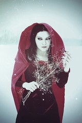 redridinghood_by_mysteria_violent (Mysteria_Violent) Tags: winter snow fairytale dark gothic goth snowstorm redridinghood gothicmodel darkfairytale whitecontacts