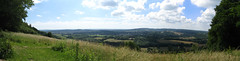 Near Boxhill (Prosthetic_Head) Tags: trees sky panorama grass landscape view panoramic hills fields boxhill coluds