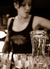 In that bar (Maike B) Tags: portrait sepia bar hamburg sw glas