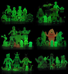 Glow Collection (The Moog Image Dump) Tags: japan toy japanese glow vinyl collection kaiju gid sofubi glowies