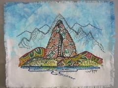 EmbroideryAnacondaCoLogo07.16a (Gallstones) Tags: gallstones theecoyote arrowhead anacondacompany copper beading embroidery marjeezeier