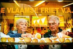 Vlaamse Friet (Steve Lundqvist) Tags: old people food holland amsterdam eating fastfood fast eat olanda vlaamse friet