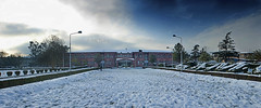 Ayub Medical College, Abbottabad 11022016 (Adil Tanoli) Tags: ayubmedicalcollege abbottabad adiltanoliphotography snow pakistan landscape panorama canon clouds sky blue home