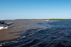 Encontro das guas do Rio Negro e rio Solimes (agenciafotro) Tags: meetingofthewaters encontrodasaguasdorionegroesolimes rionegro riosolimes rio negro