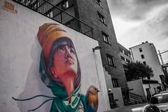 Yash mural Stockholm (fredrik.gattan) Tags: yash graffiti street streetart mural wall colored girl bird woman stockholm sdermalm sweden luthens grnd