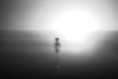 Haunting Solitude (FlorianPascual) Tags: ifttt 500px girl gradient sea long exposure silhouette shadow reflections reflection abstract sunset sundown sun light natural bw black white haunted haunt solitude haunting