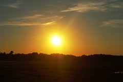 sun set (f.tyrrell717) Tags: orange sun sky whit bogs