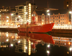 Canning Dock (Colin__Murray) Tags: liverpool merseyside england uk water night sky lights reflection sony a330 exposure longexposure color colour boat dock canning mirror
