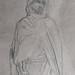 CHASSERIAU Théodore,1846 - Arabe debout, retenant un pli de son Burnous (drawing, dessin, disegno-Louvre RF24411) - Detail 17