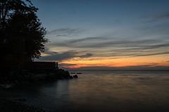 20160812-DSC_0066 (the Mack4) Tags: 2016 august lakeontario newyork niksoftware sunset water webster websterpark bird bluehour clouds slowshutter
