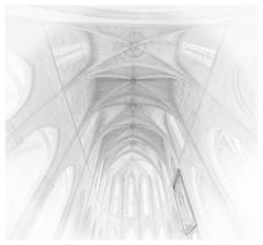 Cathedral (paulantony2) Tags: blackandwhite cathedral ciutadella menorca highkey monochrome fineart church spain balearics indoors windows arches lines