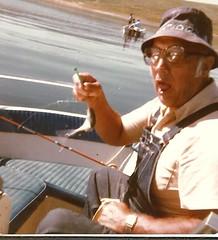 Got one! (912greens) Tags: elderly fishing boats fish funny folksidontknow 1970s