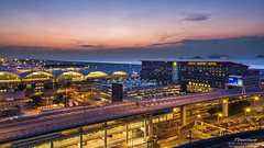 Hong Kong International Airport (mikemikecat) Tags: hong kong international airport  hkia  cheklapkokairport    olympusomd cityscapes house hongkong      evening       olympus lumix twilight colorful sunset dusk magicmoment     building  regal hotel regalairporthotel