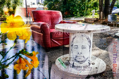 2016/08/22 Memories - The Room That You Make (-Dons) Tags: austin texas unitedstates flowers streetart texture tx usa feelthebern table outside
