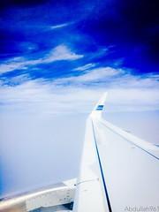 Blue Bird in the beauty of the blue sky Kuwait airways ( Blue Bird ) Canon 70D  18-200mm (abdullahh96596) Tags: wingaircraft 18200 70d canon fly sky blue kuwaitairways photography photo eos wide travel traveling bluesky bluebird