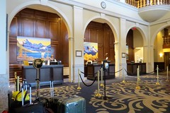 Lobby (Patricia Henschen) Tags: banff banffnationalpark parks parcs canada alberta lakelouise thefairmont chateaulakelouise hotel lake clouds mountains canadian rockies northern rockymountains lakeshore trail
