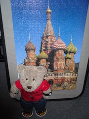 Rushin' (pefkosmad) Tags: waddingtons 750pieces jigsaw puzzle leisure hobby pastime russia stbasilscathedral moscow complete building architecture tedricstudmuffin ted teddy bear stuffed soft toy cuddly cute plush fluffy photograph photo