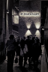 Black friars (333 Half Evil) Tags: sony alpha nex nex5n canon fd 28mm mirrorless manual mf wide prime legacy bw monochrome street night blackfriars london brexit people