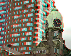 Montevideo en Hotel New York 3D (wim hoppenbrouwers) Tags: montevideo hotelnewyork 3d anaglyph stereo redcyan rotterdam kopvanzuid