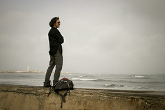 Jonmikel looking out to sea, Casablanca (Jonmikel & Kat-YSNP) Tags: casablanca morocco march 2007