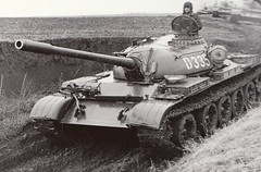 T-55 tank of the Romanian Army.