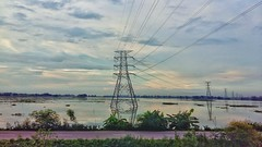 Click From the Train (OnlyForGreen) Tags: train sky river meghna