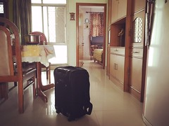 How to Travel and Where to Travel if You Are Middle Class? (Mayank Austen Soofi) Tags: delhi walal luggage dining hall table fridge how travel where if you are middle class