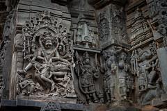 Angry God (Scalino) Tags: india karnataka tourism belur halebid halebeed halebeedu hoysala temple carved sculpture hindu gore dark