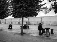 (christophemo) Tags: nancy villedenancy lorraine france meurtheetmoselle placecharlesiii place saintsbastien centrecommercial glise noiretblanc monochrome bw noirblanc