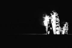 Pretty Lighthouse, Pretty Flame - Burning Man 2016 (skamalas) Tags: lighthouses burning man 2016 flames film black white nofilter unedited unpolished unposed davinci