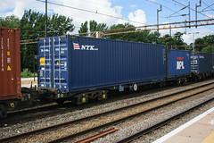 92612 Northampton 040816 (Dan86401) Tags: 92612 rls92612 92 kfa freightliner fl intermodal modal container flat wagon freight rls standardwagon touax northampton wcml 4m55 nyk apl