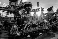 fun (moltofredo) Tags: bw black white sw schwarz weiss noiretblanc monochrome street streetlife streetphotography funfair carousel
