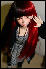 C'mon Michelle, no more wigs... (AniredaDolls) Tags: cute love rock doll dolls michelle testing rocker bjd lovely fairyland juri mnf minifee juri10
