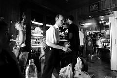 waiter (C_Kho) Tags: bw italy lumix cafe sicily waiter erice trapani