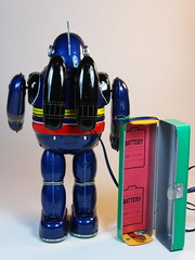 Billiken  Tin Battery Operated  Tetsujin 28 Go (28)  Blue Version  Back Side (My Toy Museum) Tags: tin go battery 28 operated billiken tetsujin