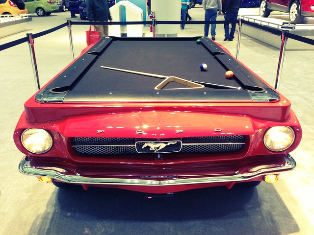 New for 2013 Ford Mustang Pool Table  #autoshow