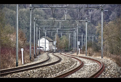 Railroad Swing (Bert Kaufmann) Tags: railroad winter station train landscape belgium belgique belgie ardennen ardennes belgi rail railway swing railwaystation trainstation rails hdr trein spoor landschap sy belgien wallonie spoorweg treinstation winterlandschap slinger walloni verlainesurourthe railroadswing