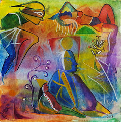 SIESTA (Helanker) Tags: abstract watercolor finaart