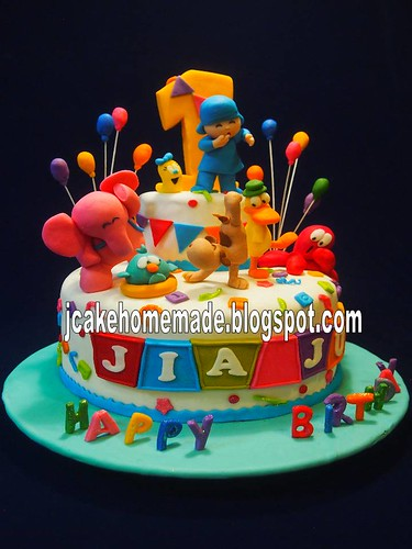 Prime Pocoyo Birthday Cake A Photo On Flickriver Funny Birthday Cards Online Elaedamsfinfo