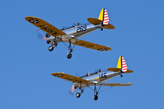 Ryan PT-22 Recruits (Trent Bell) Tags: california airport ryan aircraft cable airshow socal recruit upland pt22 2013