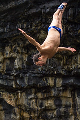 Red Bull Cliff Diving (fran426ft) Tags: ireland galway redbull cliffdiving inismr
