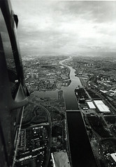 Image titled Aerial View Glasgow Looking down  the River Clyde  1990s