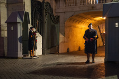 The Vatican Border (MrBlackSun - Busy for sometime) Tags: nightphotography italy rome night nightshot sanpietro piazzasanpietro stpetersplace saintpetersplace rome2012 italy2012