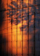 Grain bin at sunset