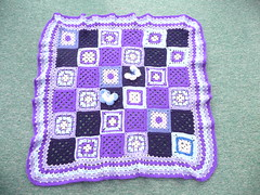 A gorgeous blanket. (MRS TWINS/SIBOL 'Sunshine International Blankets) Tags: squares elderly blankets crocheted sibol