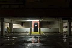 Untitled #7 (capturedaesthetic) Tags: urban night contrast grit lights texas garage parking houston gritty macys isolation exit