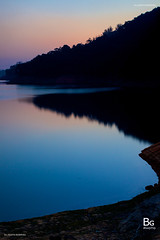 Sunset :: Shing Mun Reservoir (), Hong Kong (hk_bellchan) Tags: bridge trees sunset hk moon monkey steel jubilee reservoir hong kong wan   shing afterglow  mun paperbark melaleuca       tsuen bellmouth shingmoon